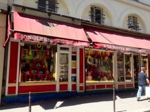 パリのジャグリングショップ