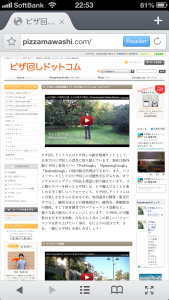 PC版サイト画面