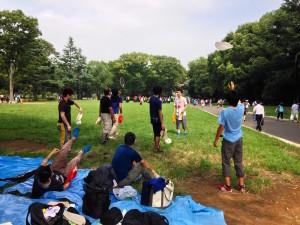 代々木公園ピザ回し練習会